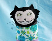 Patchwork Stuffed Cat with Vintage Fabric 2