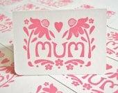 Mum Echinacea Card