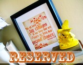 Reserved Listing // Custom Inspiration Print