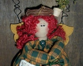 Primitive Folk Art Garden Angel Doll Cinnamon Apple Scented Potpourri-Filled Dress Bird Nest Wreath Seed Bag Spring Hanger ofg hafair faap
