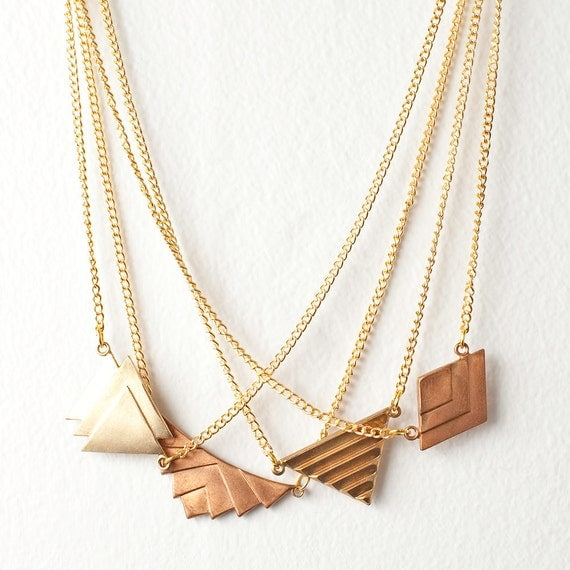 Geometric Charm Necklace - You Choose Charm