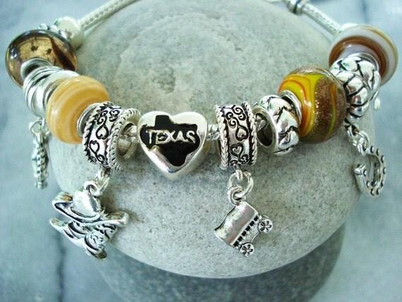 Texas Pandora Charm Bracelet