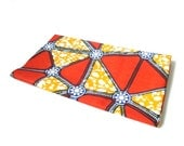 African wax print fat quarter 100% cotton (orange and red triangles)