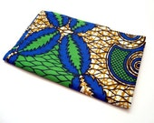 African wax print fat quarter 100% cotton (Blue and Green)