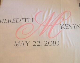 Aisle Runner, Wedding Aisle Runner, Custom Aisle Runner, // Quality Fabric that Won't Rip or Tear // Pink and Grey