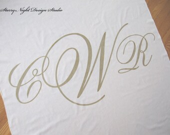Aisle Runner, Wedding Aisle Runner, Custom Aisle Runner with Monogram on Quality Fabric that Won't Rip or Tear - Ivory and Gold