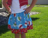 SALE Holiday Snowman Skirt size 4- Last One