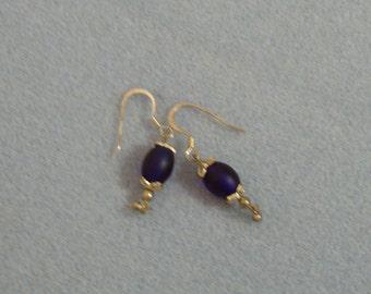 Blue Egg Bead Earrings