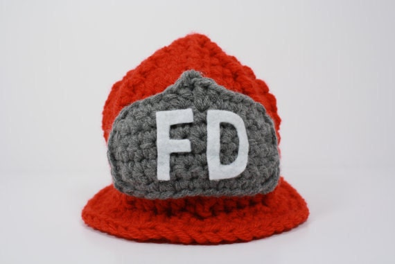 Red Fireman's Hat - Baby, Toddler, Teen/Adult Sizes - Donated by Knotty Needle for Sweet Bea Fund