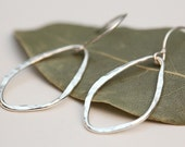 Leaf earrings small sterling silver - MADE TO ORDER