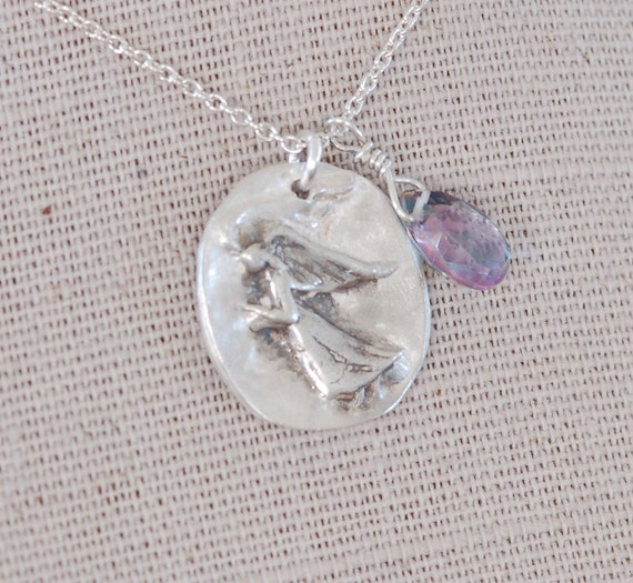 An Angel with Gratitude Necklace