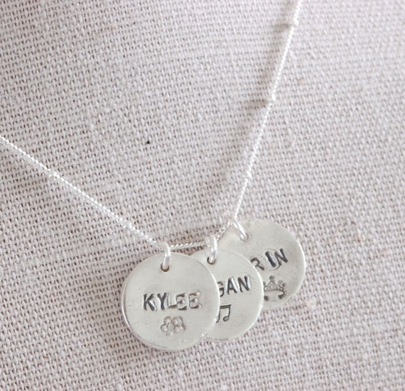 3 Sisters Name Charm Necklace