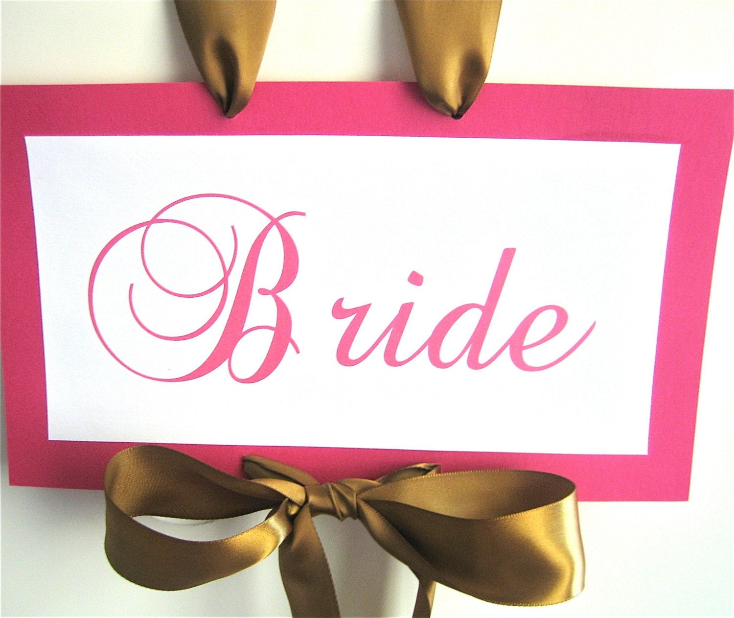 Bride And Groom Chair Sashes 2 Pc Set