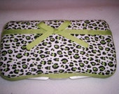 RESERVED FOR THIS AND THAT Lime Green Leopard Print Wipe Case