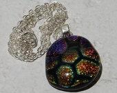TMNT Glitter Diet Fused Glass Pendant