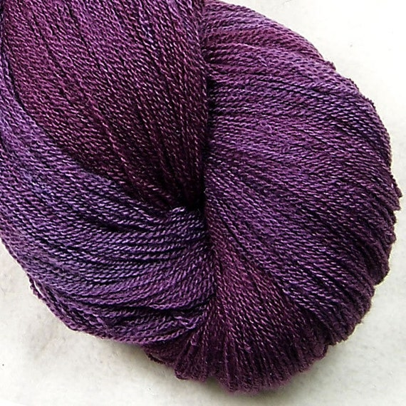 Lace Weight - Silk Wool - Wine