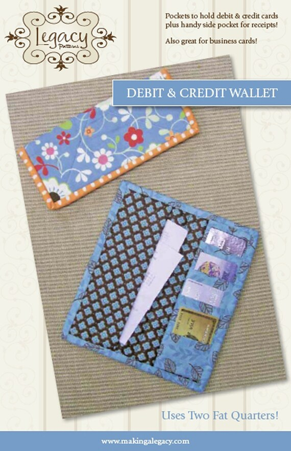 Debit and Credit Wallet Pattern by Legacy Patterns - Free Shipping