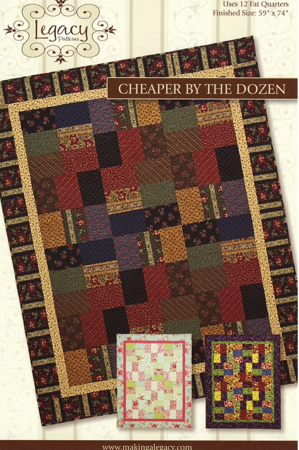 Cheaper By The Dozen Quilt Pattern By By Sanourrasfabriclove