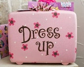 Pink and Brown Dress Up Suitcase