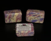 Lavender  Bouquet With Dried Flowers Ethically Sourced Natural Soap