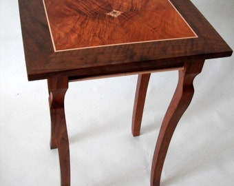 pedestal black walnut and koa table shipping included