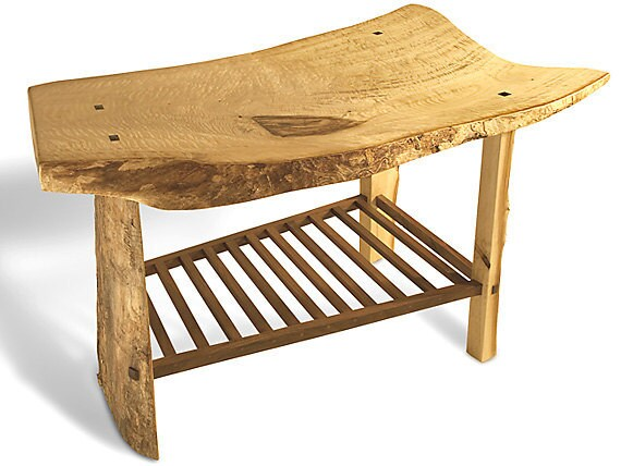 natural live egdes curly cotton wood table