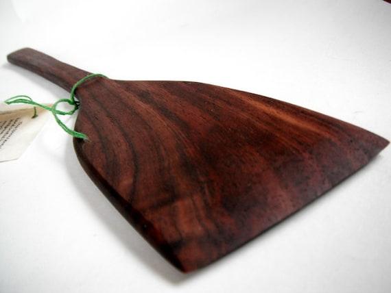 eco reclaimed local wood black walnut spatula