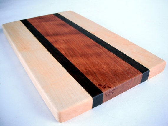 reclaimed maple, black walnut and cherry cutting board