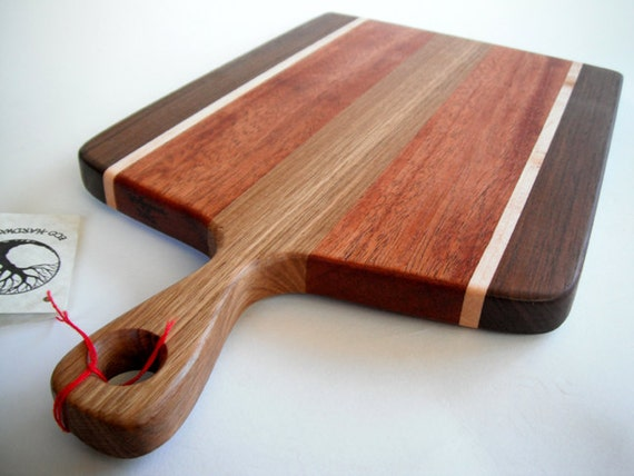 reclaimed beautiful handled cutting board