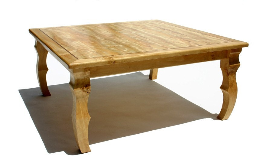 Made to order curly cottonwood low rise sushi coffee table for Rising coffee table