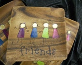 CELEBRATE YOUR FRIENDS With A Square Handmade Personalized Plate