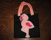 Felt Pink Flamingo Purse