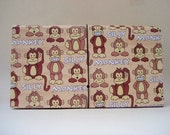 Coupon Organizer/ Accordion/ File/ Holder/ Keeper/Silly Monkey