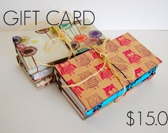 15.00 GIFT CARD