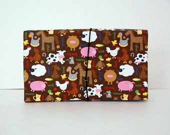 Coupon Organizer Accordion File Pocket Book Farm House