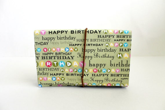 Coupon Organizer/Accordion File/Lime/ HAPPY BIRTHDAY