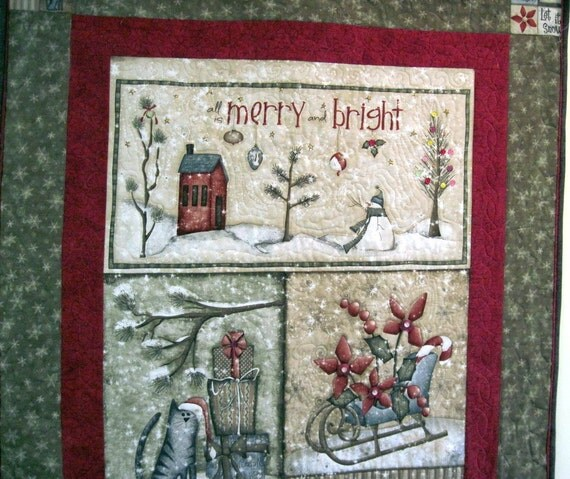 Quilted wall hanging Winter  Let it snow
