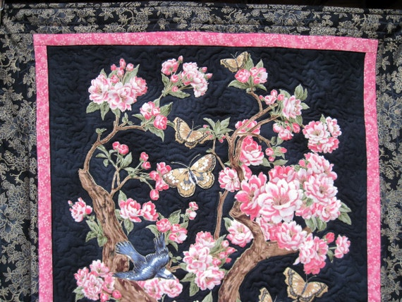 Quilted  Wall hanging, Spring Blossoms