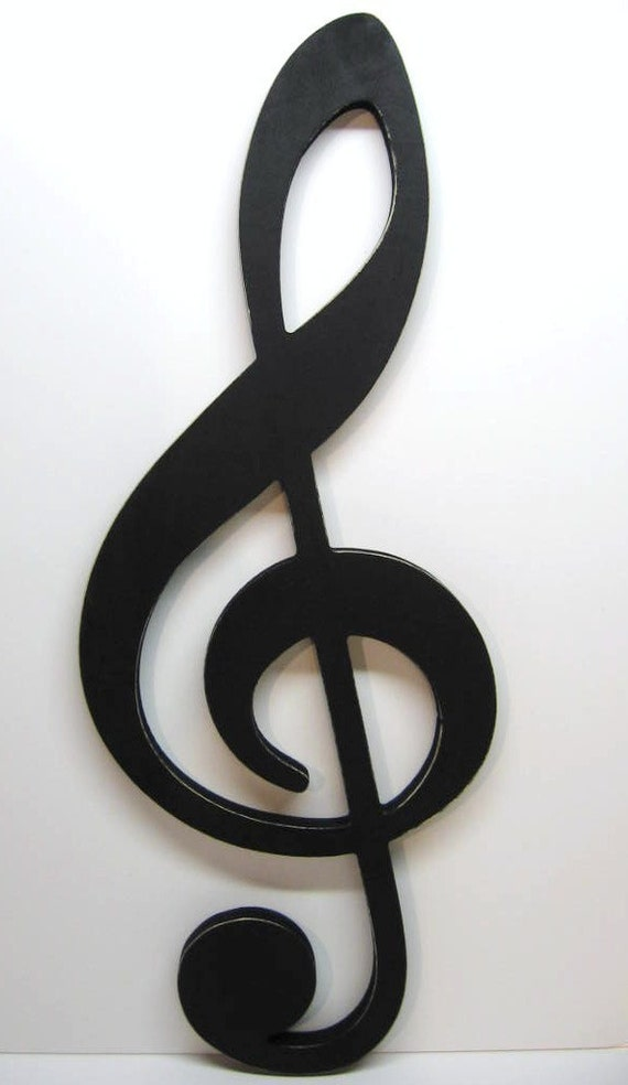 large treble clef sign big bold graphic statement musical