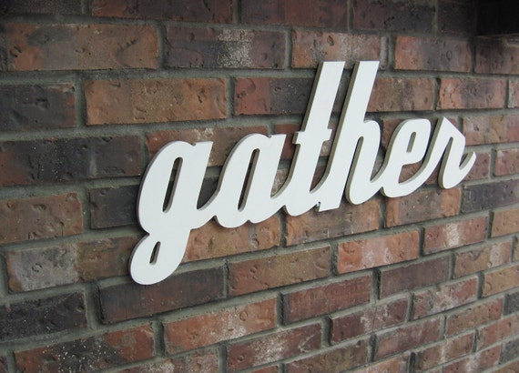 Wall Decor Gather : Off white gather sign wood wall decor family room