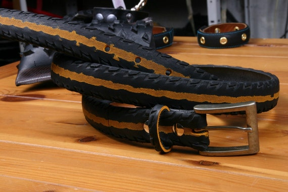 Skid - recycled bicycle tire belt