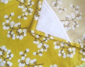 Cyber Monday FREE SHIPPING..... Mustard Seed Nursing Cover Yellow and cream blossom print nursing cover up