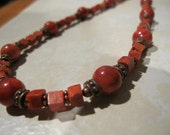 Coral and Copper Compliment Necklace