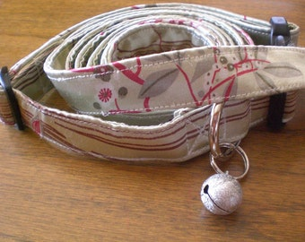 SALE: Cherry Blossom Dog Leash and Collar Set