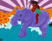 Elephant Girl - 8x10 art print