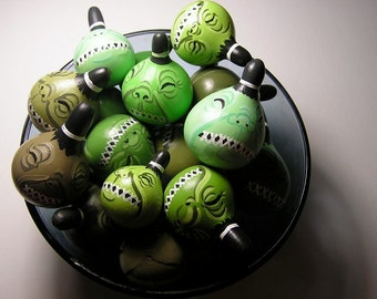 Shrunken Head gourds - Set of 3