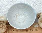 Famous Garlic Puree Dish in White Celadon with a tiny hint of blue