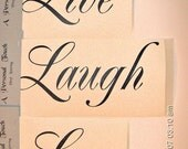 DIY  Live Laugh Love wall decal Vinyl lettering wall word decals quotes stickey live laugh love,,