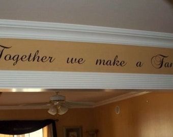 Family wall decal Vinyl lettering wall word Quotes sticky letters decals Together Family