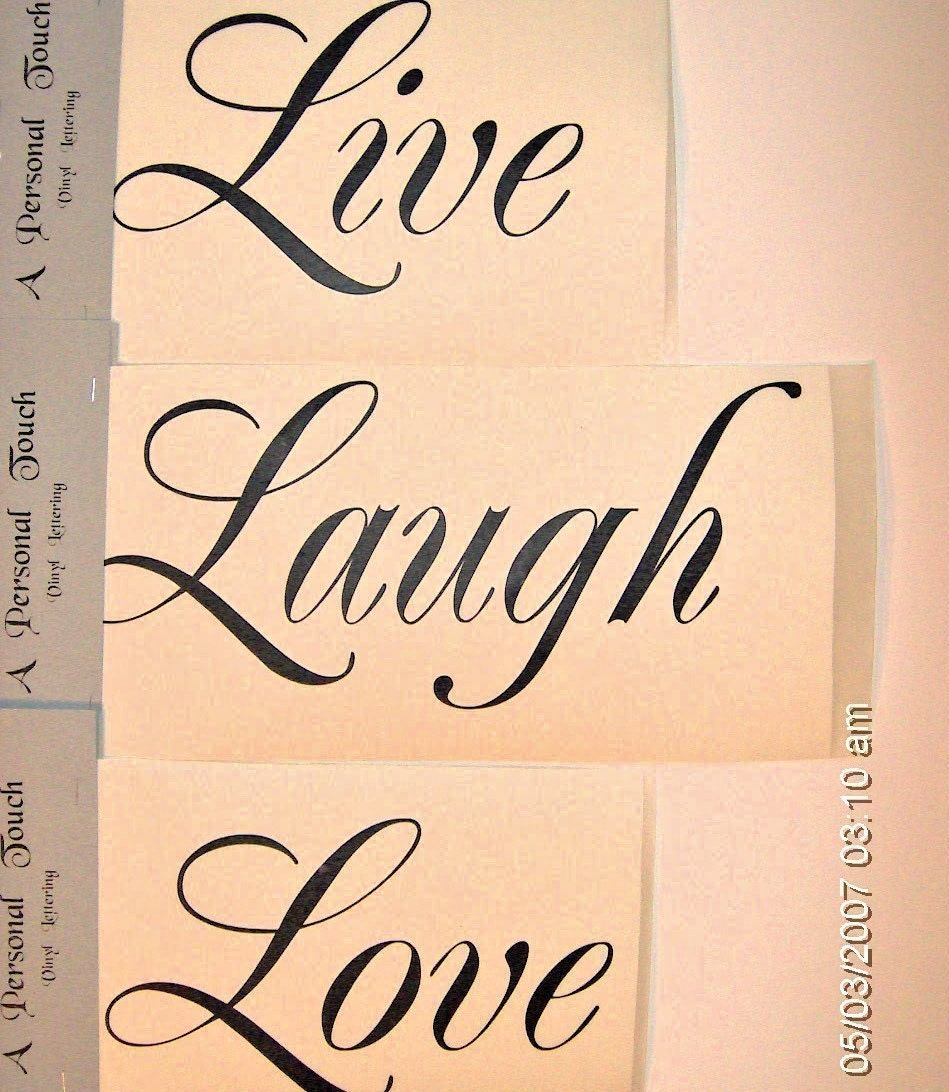 Live Laugh Love Quotes Diy Live Laugh Love Wall Decal Vinyl Lettering Wall Word